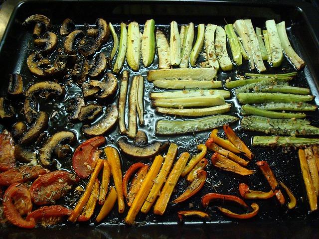 pečená zelenina na oleji