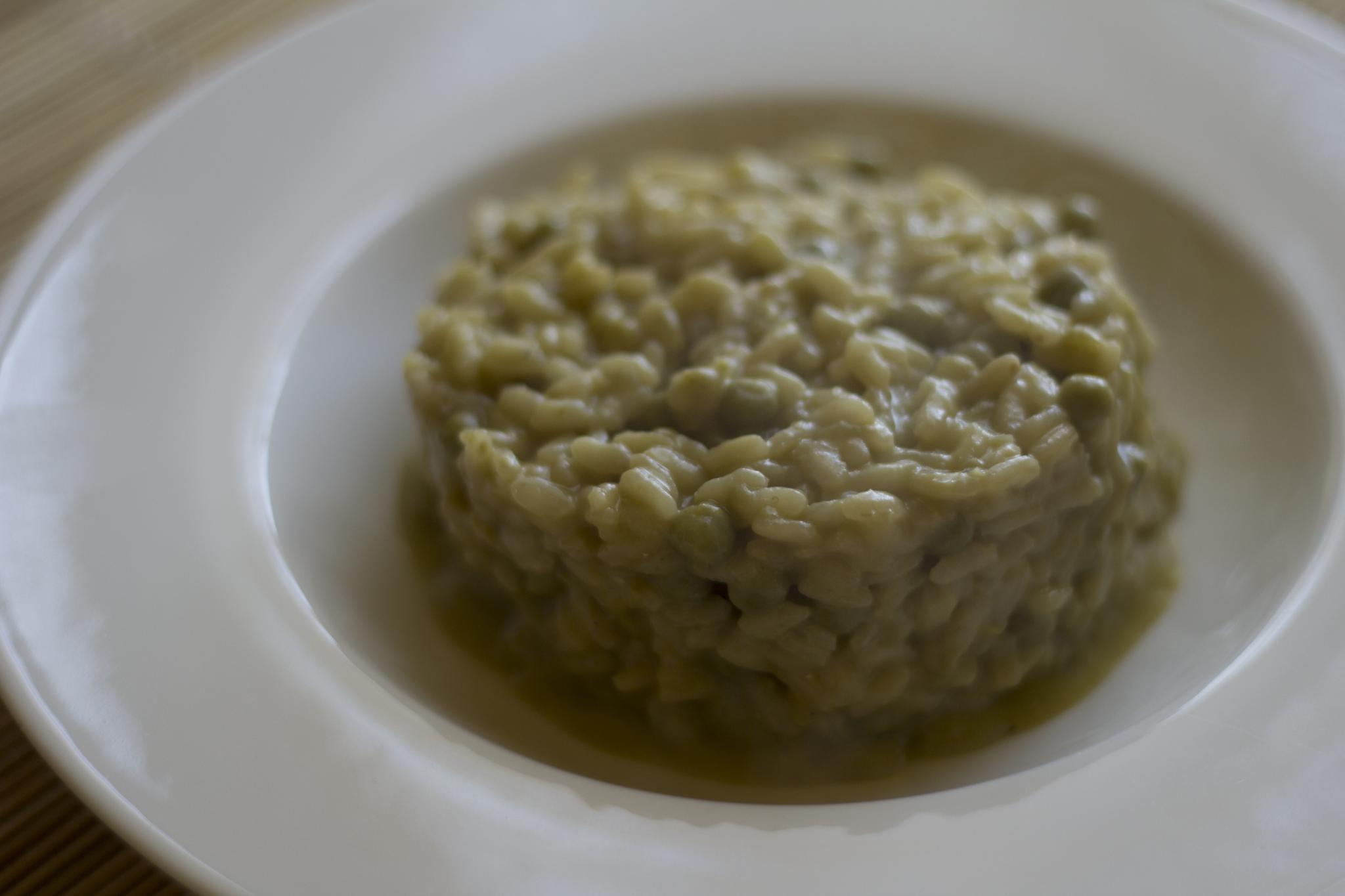 chřestové rizoto
