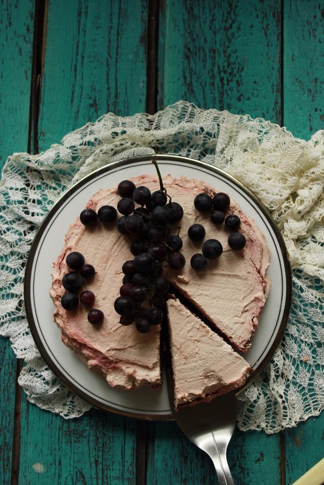 Zdravý dort pro vegany - výsledek
