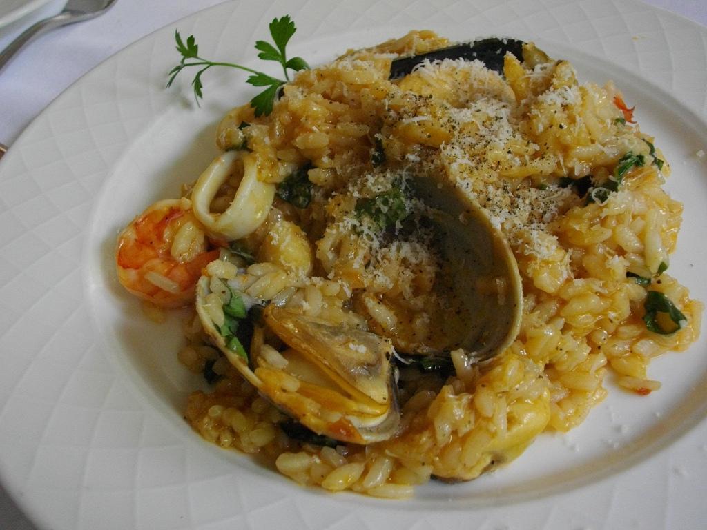 rizoto s mořskými plody