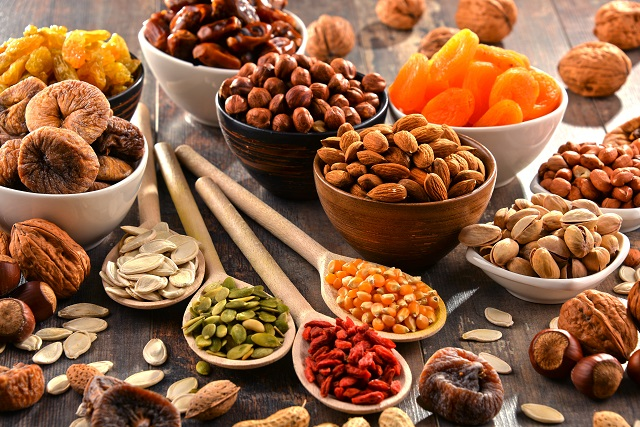 oříšky a sušené plody