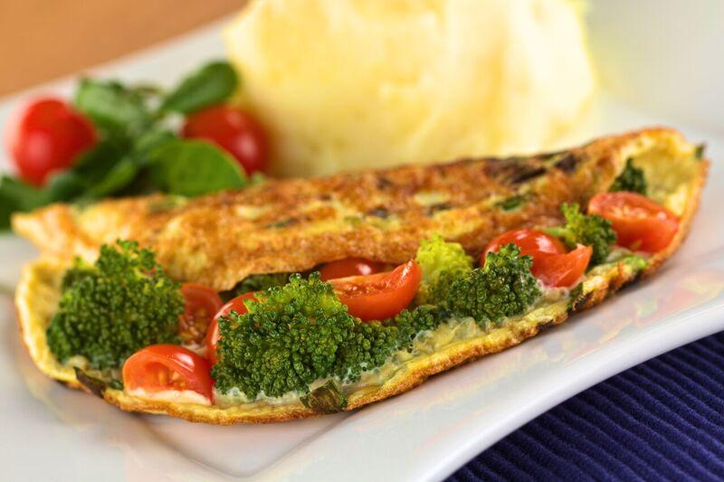 Omeleta ze 3 vajec, zelenina