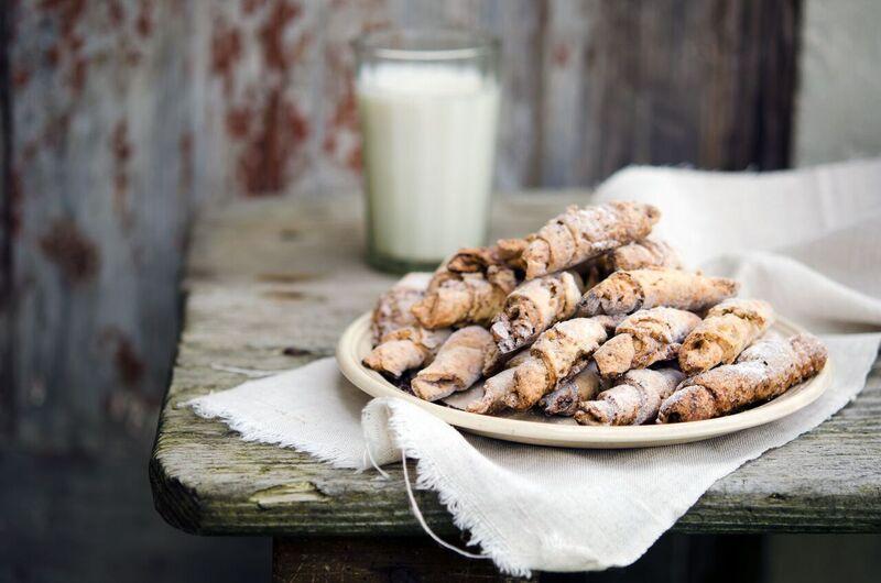 raw vanilkové rohlíčky