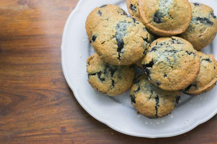 tvarohový muffin s ovocem