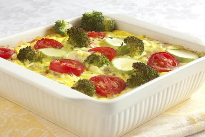 brokolicový nákyp s vejcem