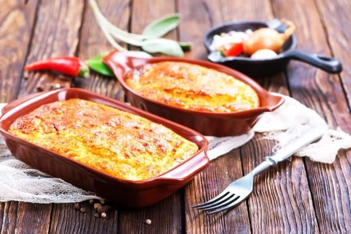 brambory zapečené s paprikami a mletým hovězím masem