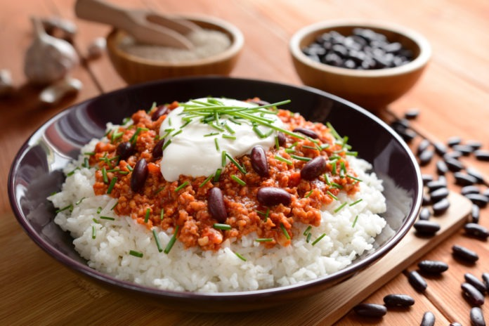 chilli con carne s rýží