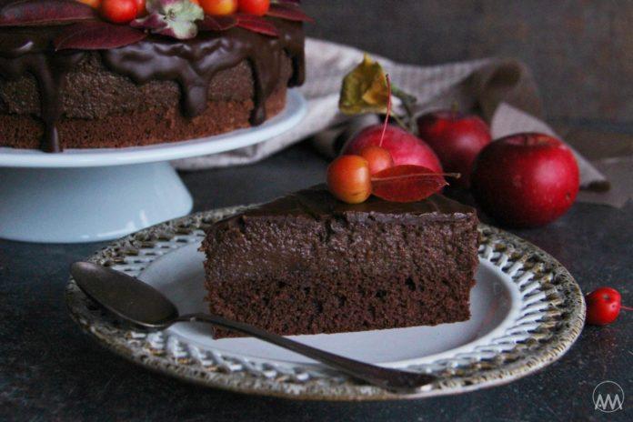 čokoládovo-jablečný moučník