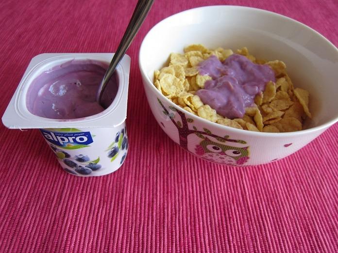 alpro - borůvkový sójový jogurt