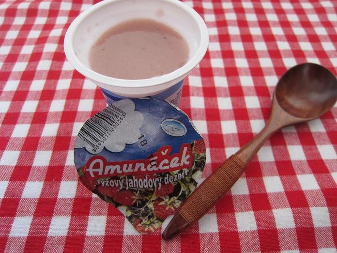 amunáček - jahodový rýžový dezert