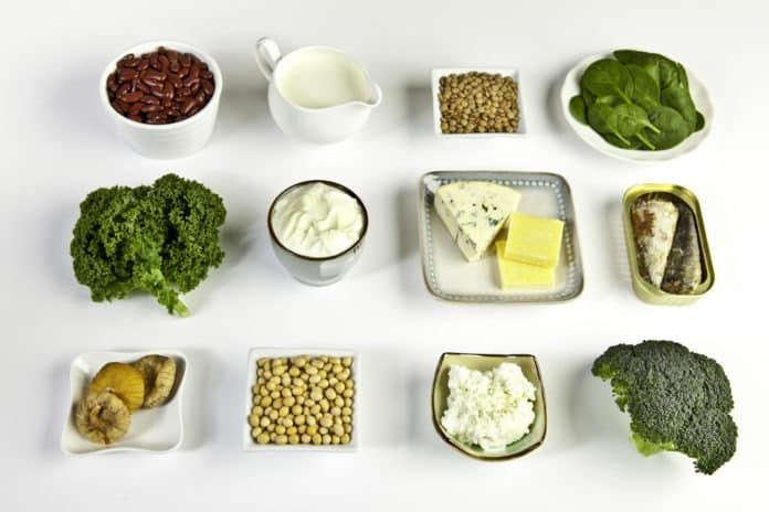 potraviny s obsahem vápníku