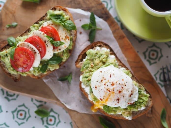 avokádová snídaně