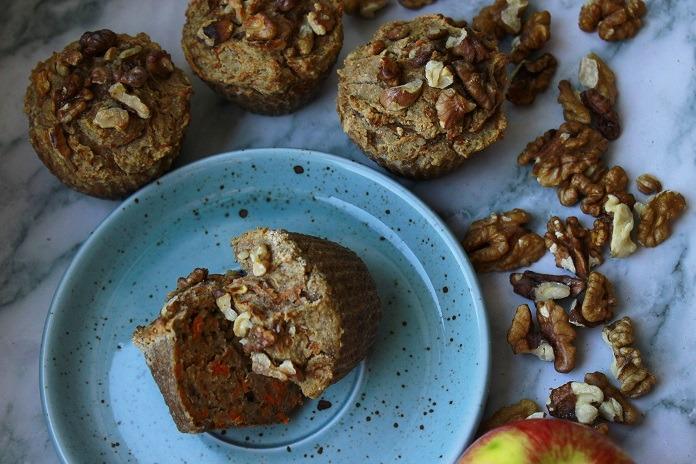 mrkvové muffiny z pohankové mouky
