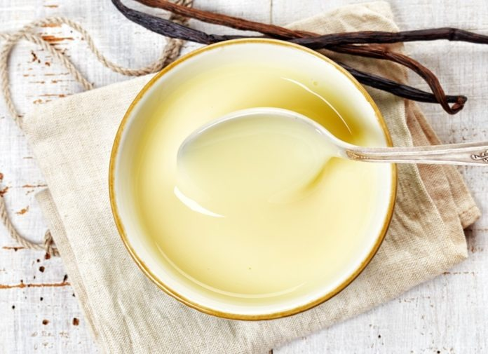 vanilkový pudink z rýžového mléka