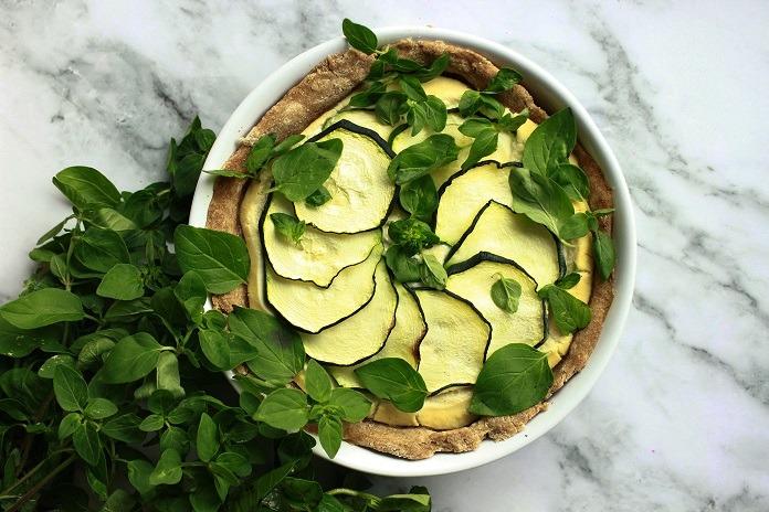 cuketový quiche s tofu krémem