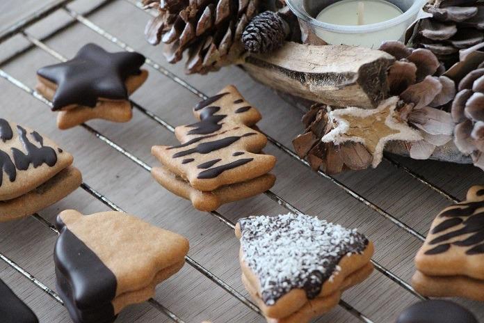 vánoční cukroví s vanilkou a pudingem