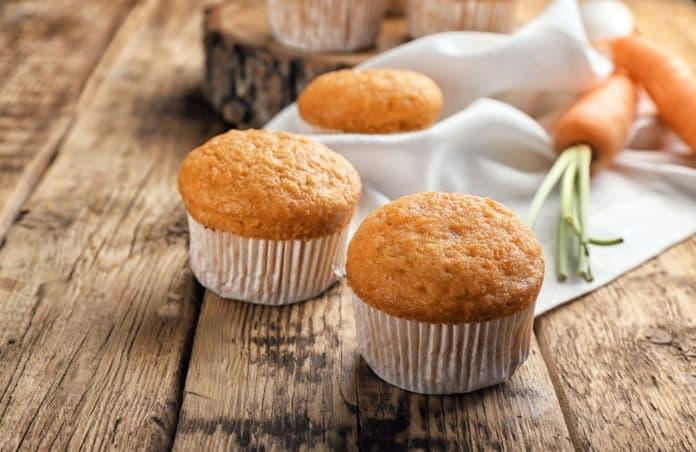 mrkvové muffiny z celozrnné mouky