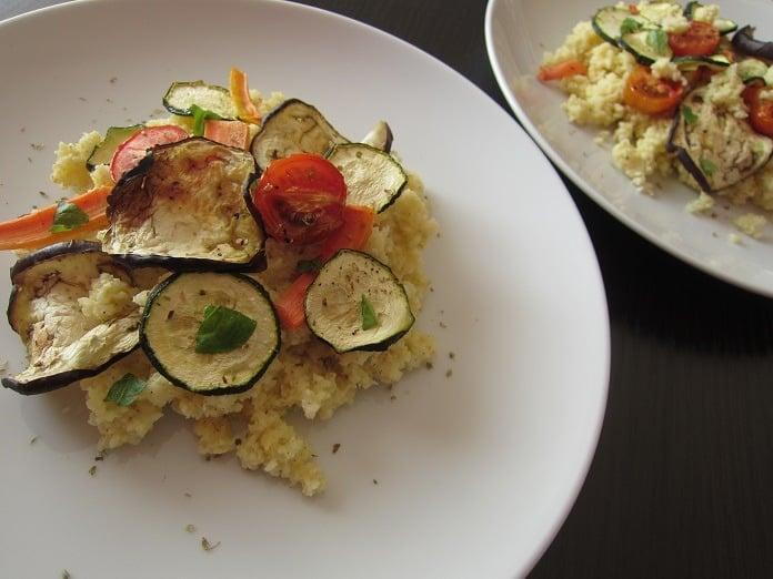 jáhly s pečenou zeleninou