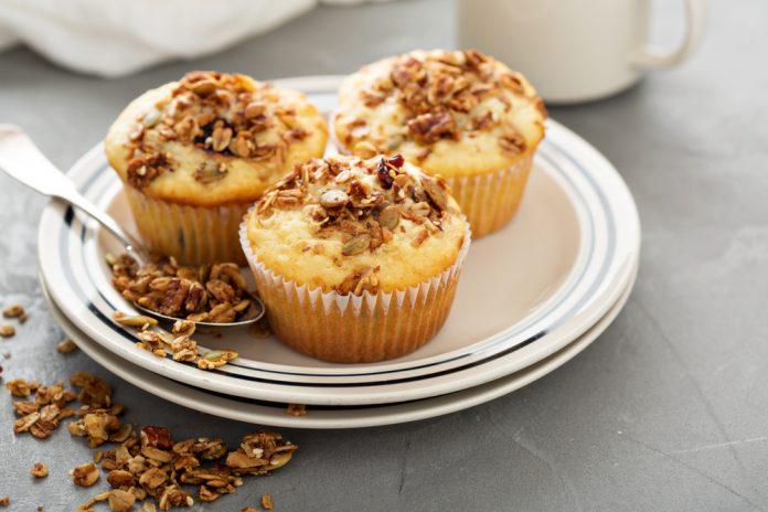 muffiny s tvarohem a banánem