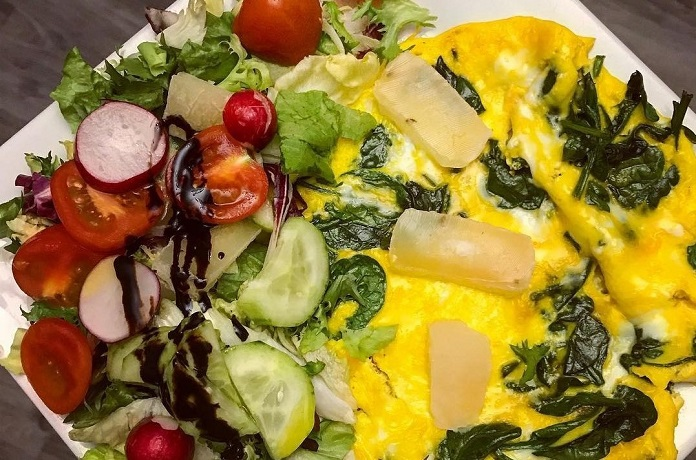 vajíčka s tvarůžky a zeleninou