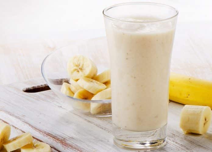banánový shake s kefírem