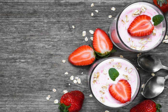 jahodové smoothie s ovesnými vločkami