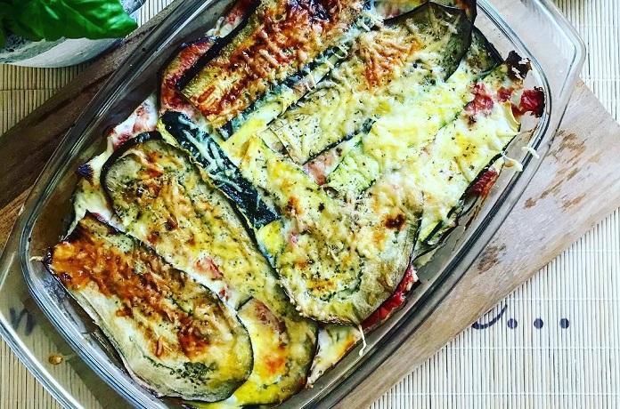 Cuketovo-lilkové lasagne