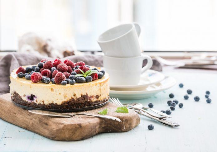domácí vanilkový cheesecake bez cukru