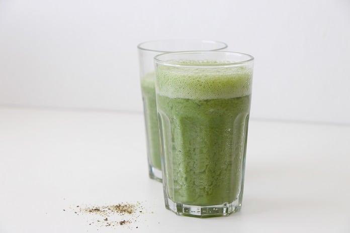 zelené smoothie plné draslíku