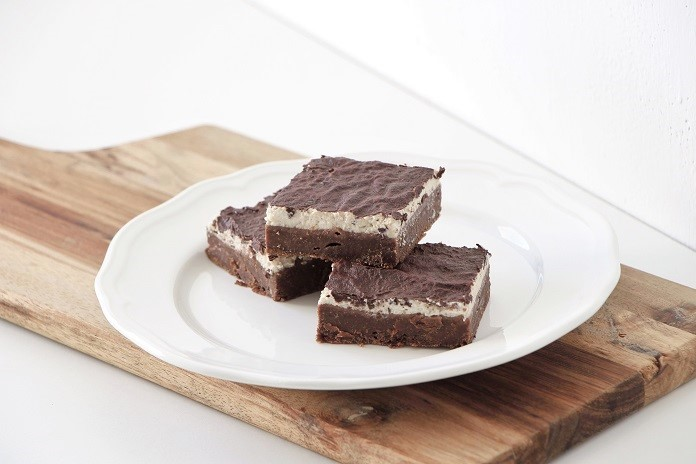 kakaové řezy s tofu krémem