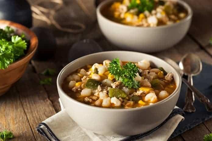 zeleninová polévka s fazolemi