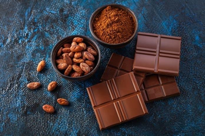 hořčík v kakaových bobech a čokoládě