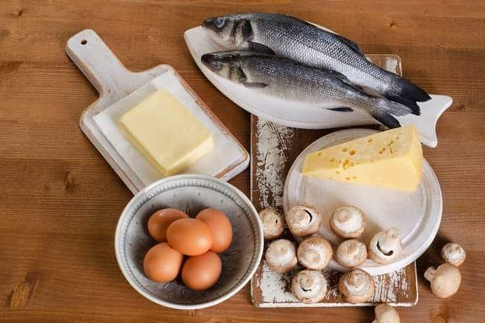 vitamin D v potravinách