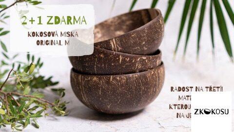 Doprava zdarma na kokosové produkty ve specializovaném obchodu zkokosu.cz